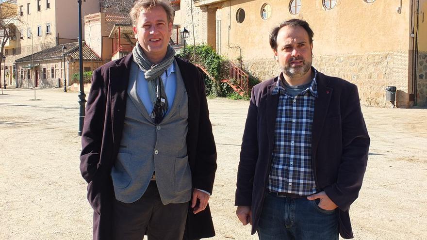 Aurelio San Emeterio, concejal de Izquierda Unida y Javier Mateo, coordinador local