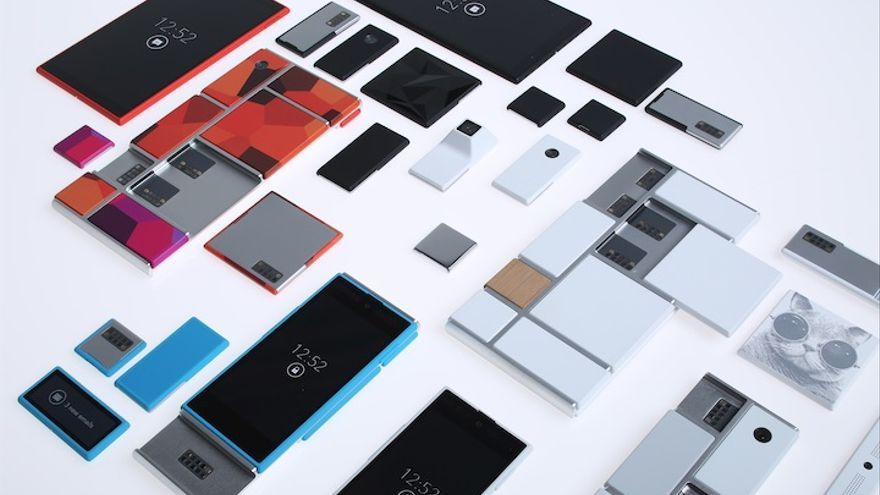 Módulos del 'smartphone' modular del Proyecto Ara.