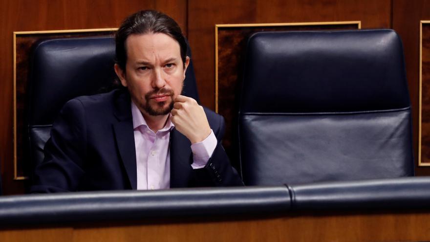 El vicepresidente del Gobierno, Pablo Iglesias, durante un pleno en el Congreso. EFE/Ballesteros/Archivo