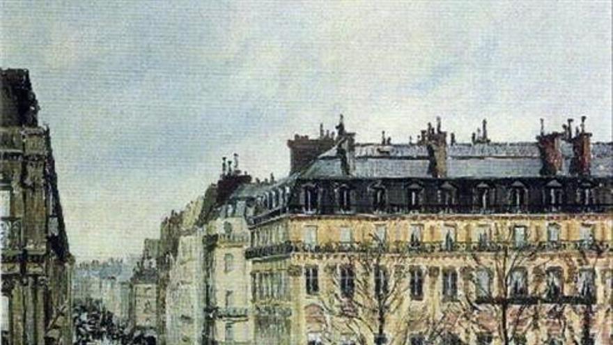 Rue St.Honoré, aprés-midi, effet de pluie, Camille Pissarro