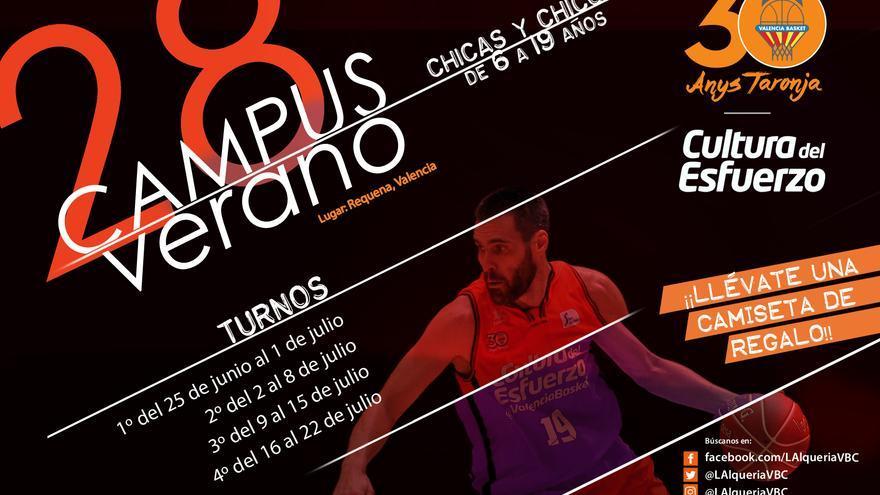 Oberta la inscripció pel 28é Campus d'Estiu de València Basket