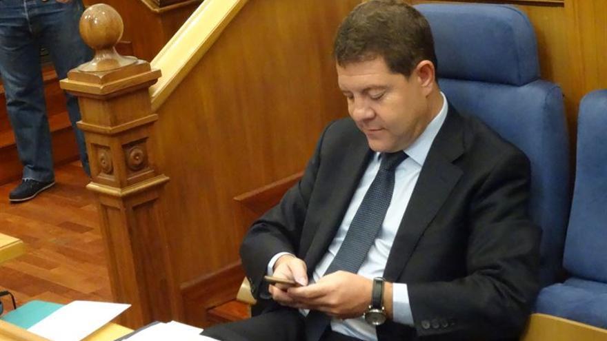 Emiliano García-Page en las Cortes de Castilla-La Mancha / Foto: EUROPA PRESS