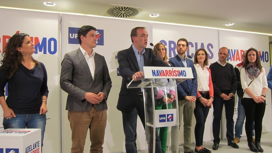 """Esparza hablará """"desde mañana"""" con los partidos, salvo con EH Bildu, """"sin legitimidad para formar Gobierno"""""""