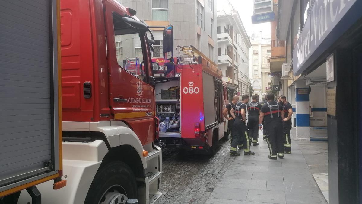 Los bomberos, en la zona donde han intervenido