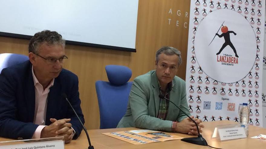 El alcalde de Don Benito, José Luis Quintana, y el director de Feval Manuel Gómez