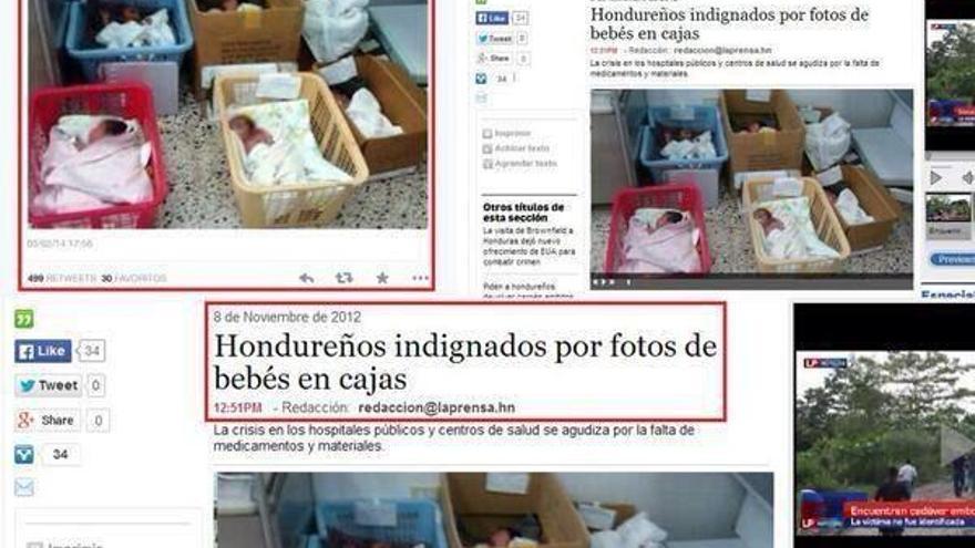 Bebés en cajas en Honduras