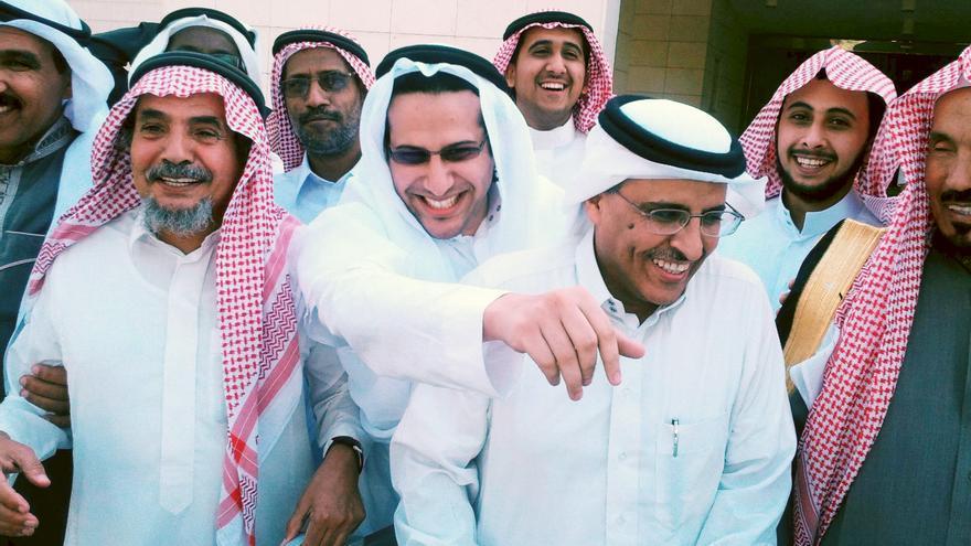 Miembros de la organización ACPRA de Arabia Saudí, entre ellos, Mohammad, a la derecha © Private