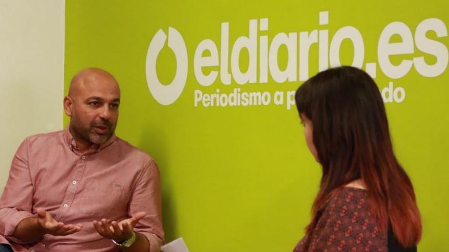 José García Molina, en el set de eldiario.es Castilla-La Mancha