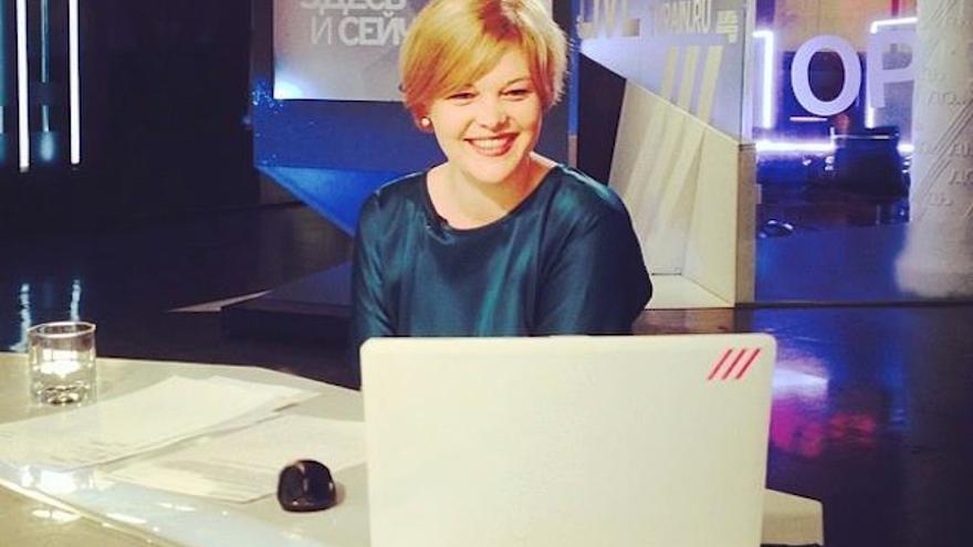 Ksenia Batanova, productora de la cadena de televisión independiente Dozhd © Ksenia Batanova / Facebook
