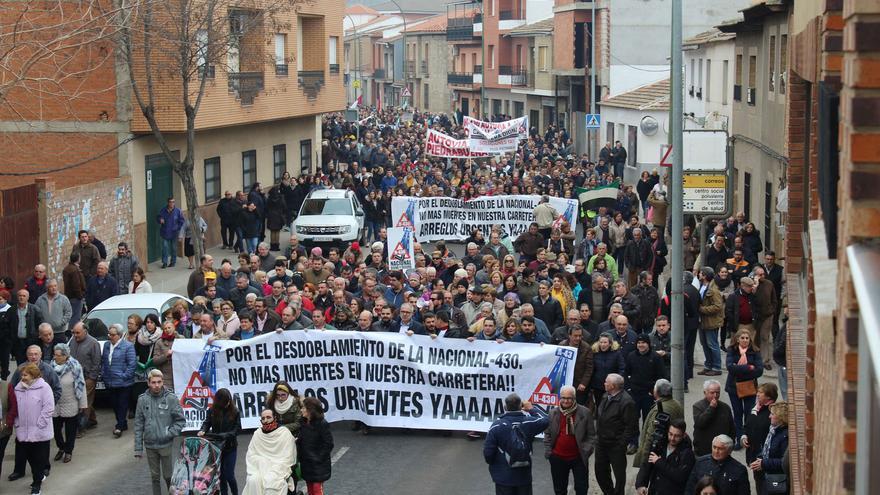 Manifestación en Piedrabuena (Ciudad Real)
