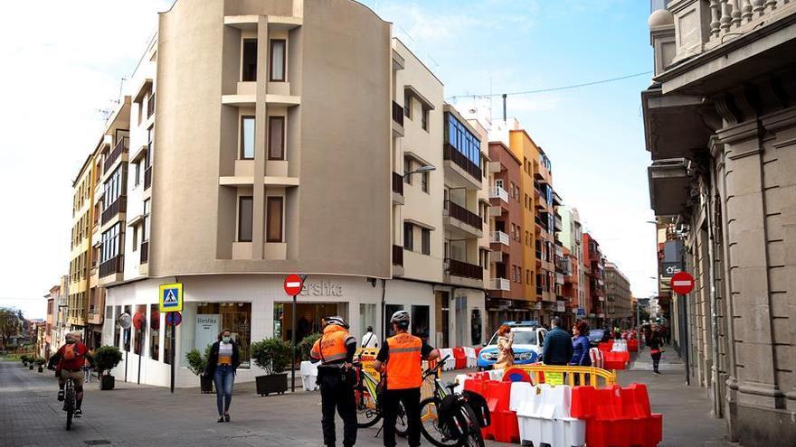 Calle Heraclio Sánchez, en La Laguna, peatonalizada