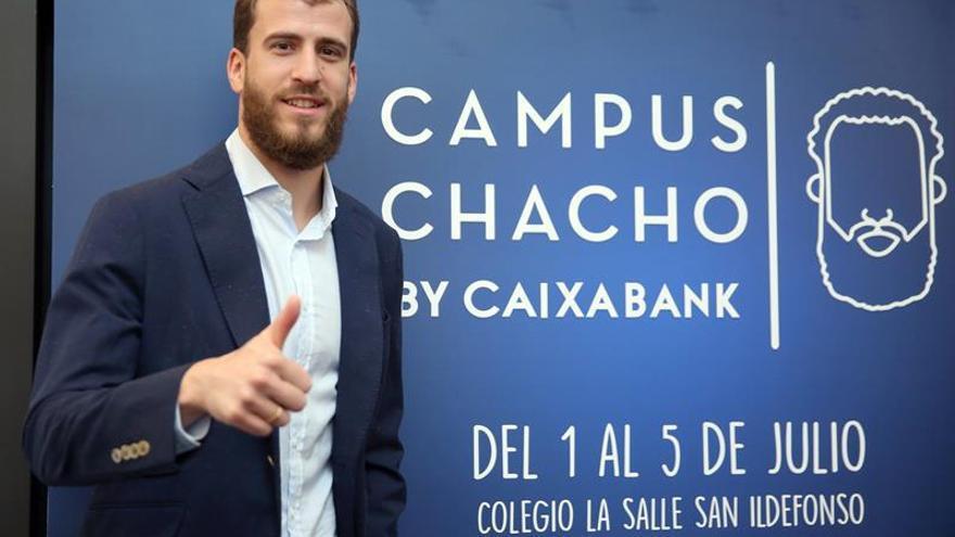 Sergio Rodriguez, en la presentación del campus en Santa Cruz de Tenerife que lleva su nombre