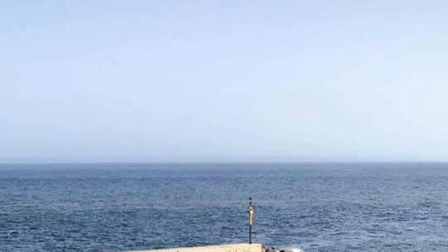 Otra imagen con el mismo problema en la costa de Radazul, en El Rosario