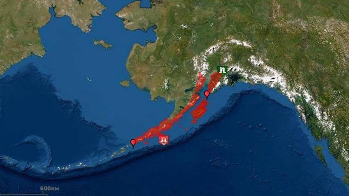 Se produjo un sismo de magnitud 8,2 frente a las costas de la península de Alaska y hubo evacuaciones por temor a un tsunami