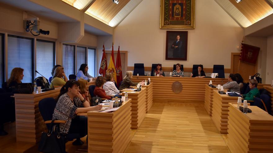 Consejo Local de la Mujer de Ciudad Real reunido este 8 de mayo
