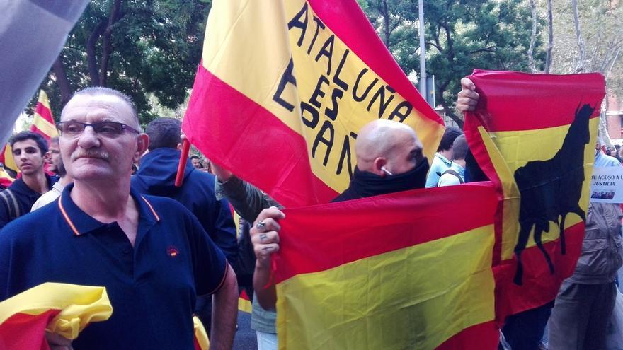 """Más de un centenar de manifestantes reivindican ante la sede de la ANC que """"Cataluña es España"""""""