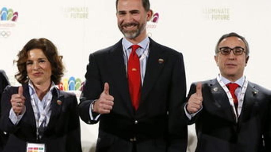El príncipe Felipe y Ana Botella, en un acto de apoyo a la candidatura de Madrid 2020  (Efe)