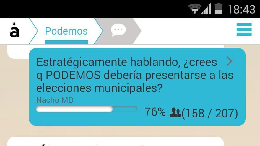 Imagen del canal de Podemos en Appgree