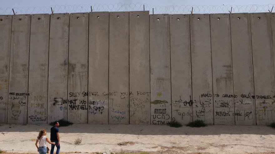 Parte del muro de unos 800 kilómetros que se extiende por Cisjordania y rodea Jerusalén