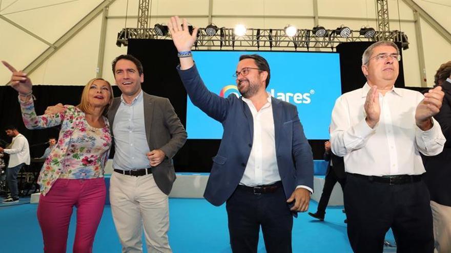 Asier Antona (PP) en un acto de campaña de su partido.