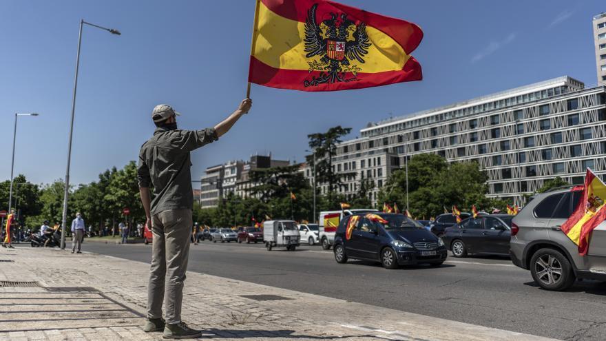Manifestación de Vox en Madrid contra el Gobierno