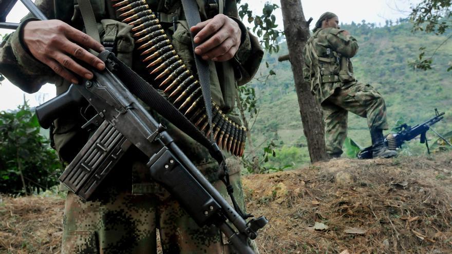 En la imagen, miembros del sexto frente de las FARC. Imagen de archivo.