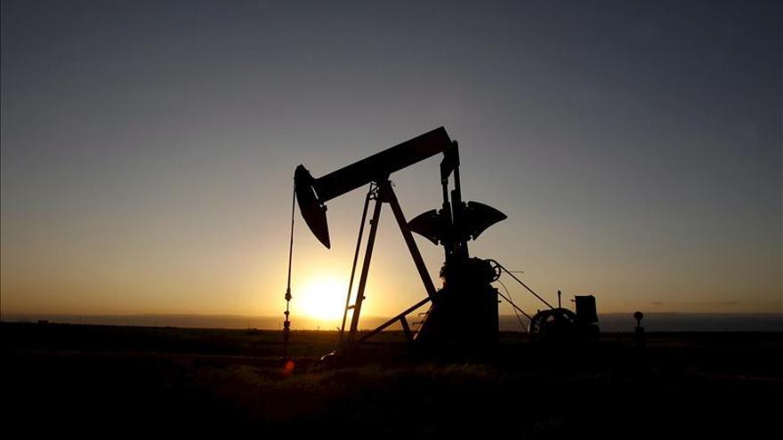 Explotación de un pozo petrolífero.