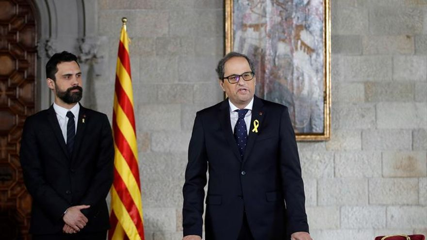 Torra toma posesión como president en un acto sin representantes del Gobierno