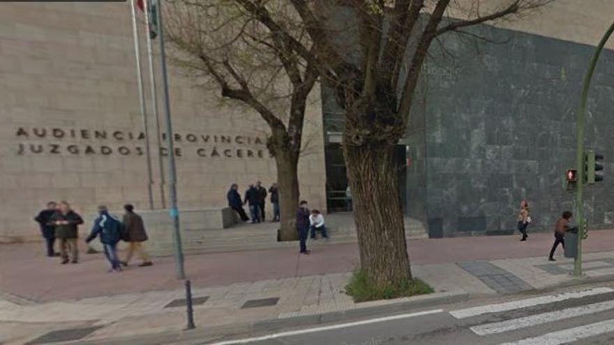Audiencia Provincial de Cáceres, en el Palacio de Justicia