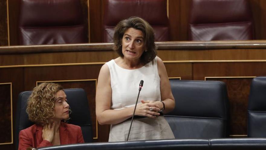 Teresa Ribera en el Congreso.