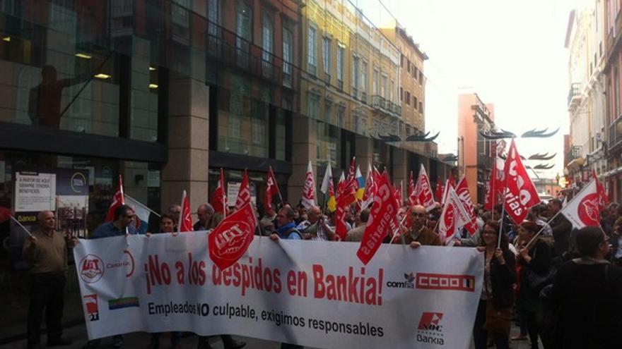 Protesta de empleados de Bankia en LPGC #1