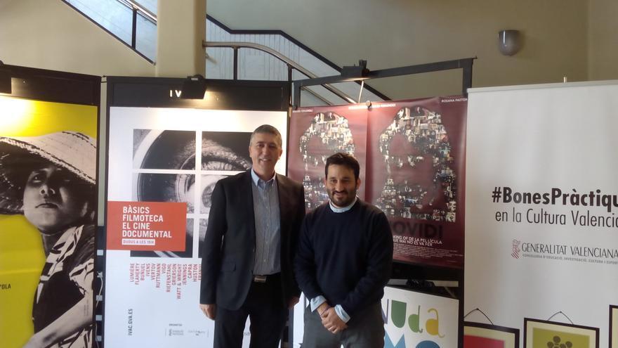 El conseller de Economia, Rafael Climent, y el conseller de Cultura, Vicent Marzà