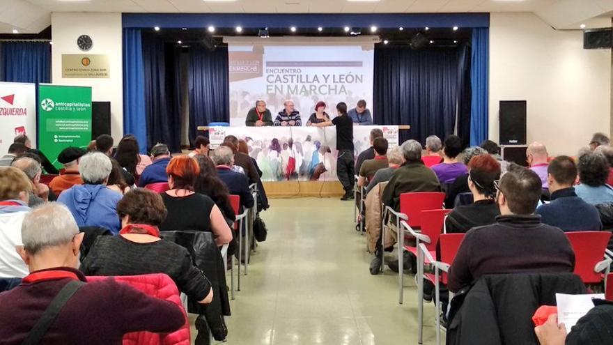 Confluencia Castilla y León en marcha, conformada por IU, Anticapalistas, Partido Castellano y Alternativa Republicana