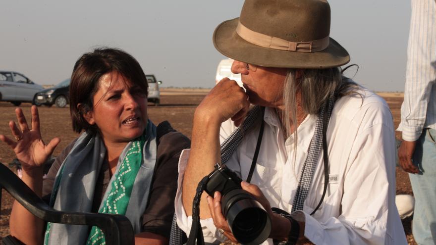 """Leena Yadav durante el rodaje de """"La estación de las mujeres"""""""
