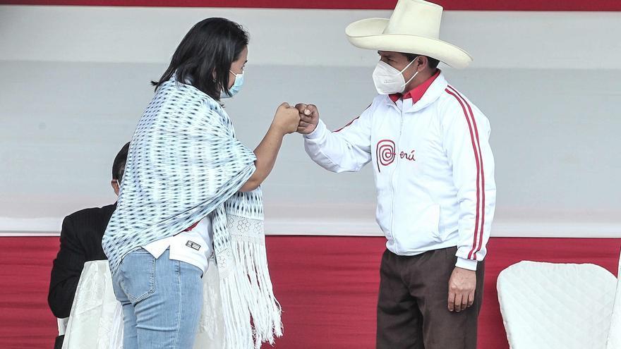 Castillo y Fujimori acuerdan realizar dos debates antes del balotaje en Perú