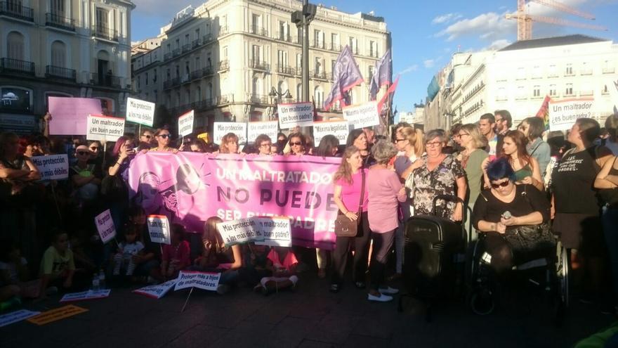 Manifestación en Madrid en favor de Juana Rivas.