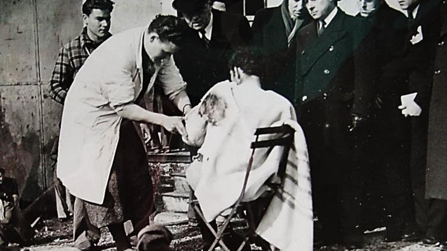 Puesto sanitario de la estación internacional de Cerbère. Visita del ministro del Interior. 2 de febrero de 1939. Archives Nationales, 11AR 848