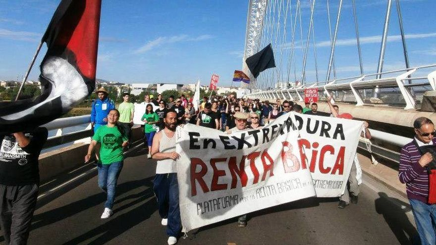 Las marchas saldrán de Olivenza y Talavera / Campamento Dignidad