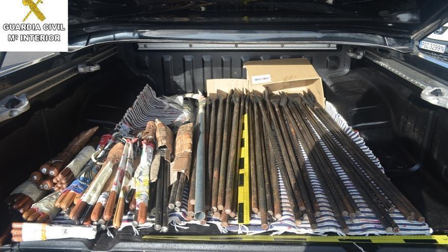 En la imagen, las herramientas incautadas. Foto: GUARDIA CIVIL.