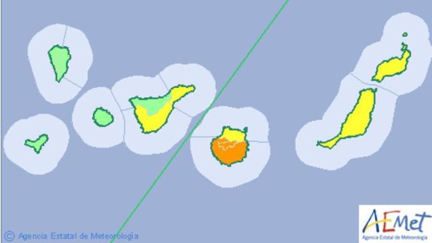 Gran Canaria estará este miércoles en alerta máxima por altas temperaturas