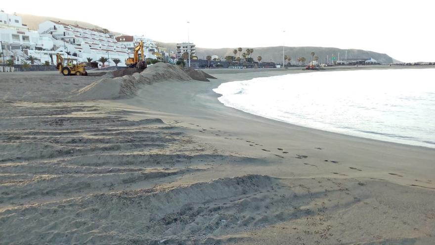 Acondicionamiento de la playa de Las Vistas en Arona