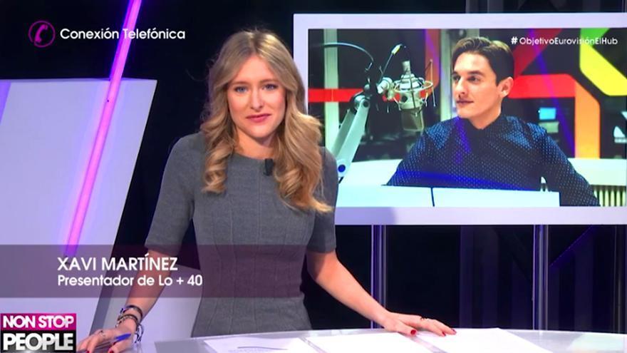 La novia de Xavi Martínez le entrevista en TV por la polémica de Eurovision