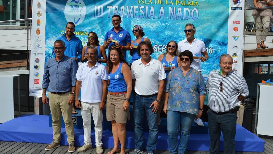 En la imagen, podium del Grupo Lento de 20 kilómetros.