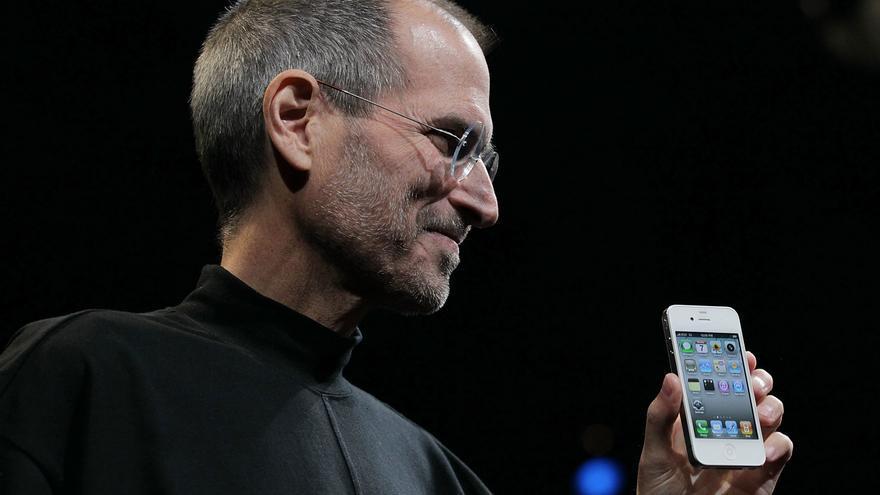Steve Jobs durante la presentación del iPhone 4