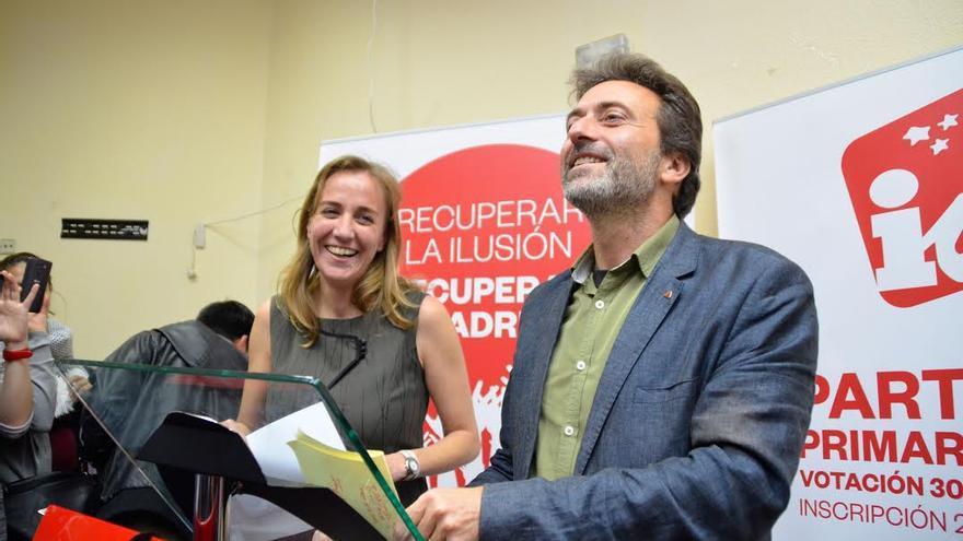 Tania Sánchez y Mauricio Valiente celebran el resultado