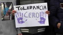 Cartel de una manifestación contra la violencia machista.