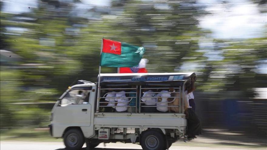 El partido gobernante cierra con un mitin la campaña electoral en Birmania