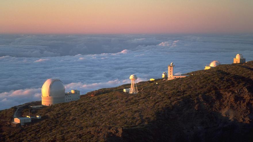 En la imagen, telescopios del observatorio de El Roque de Los Muchachos.