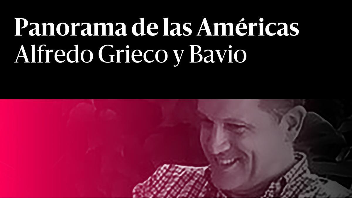 Alfredo Grieco y Bavio Panorama de las Américas rojo