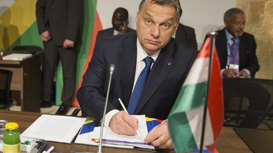 Viktor Orbán en la cumbre sobre inmigración de países europeos y africanos en Malta en noviembre de 2015.
